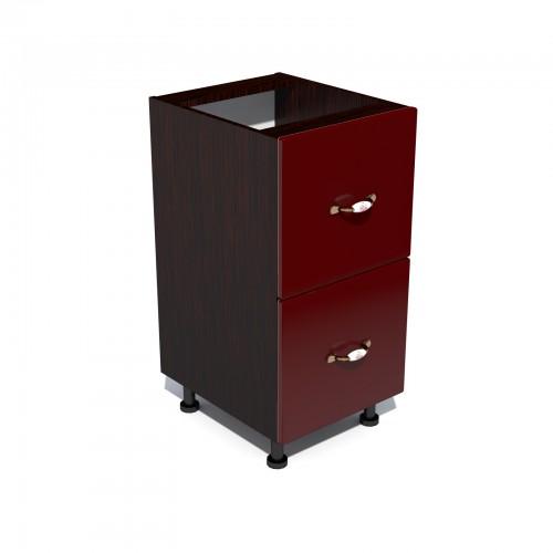 Corp inferior 40 cu 2 sertare metalice pentru greutate Zebra MDF rosu simplu imagine spectral.ro