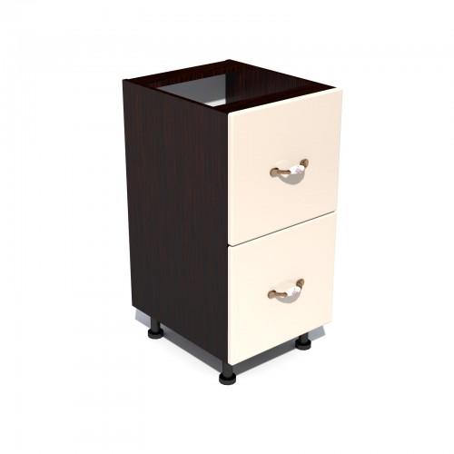Corp inferior 40 cu 2 sertare metalice pentru greutate Zebra MDF vanilie simplu poza spectral.ro