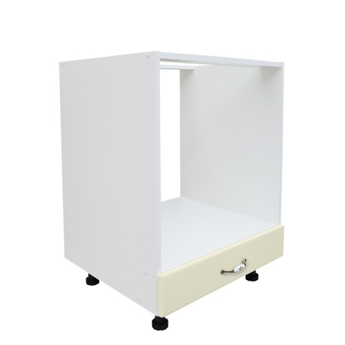 Corp inferior 60 pentru cuptor incorporabil cu 1 sertar Zebra MDF vanilie simplu imagine spectral.ro