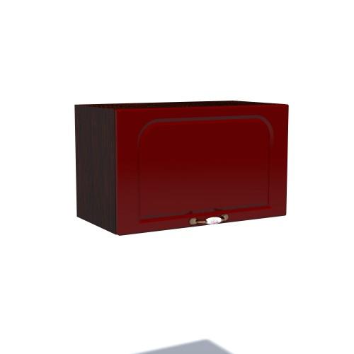 Corp superior 60 cu 1 usa orizontala pentru hota Zebra MDF tulip rosu imagine spectral.ro