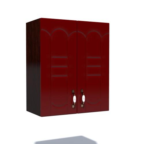 Corp superior 60 cu 2 usi cu scurgator de vase Zebra MDF tulip rosu imagine spectral.ro