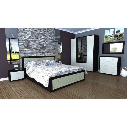 Dormitor Torino cu pat cu somiera metalica rabatabila 160x200 cm