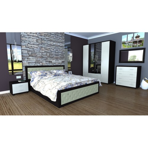 Dormitor Torino cu pat 140x200 cm