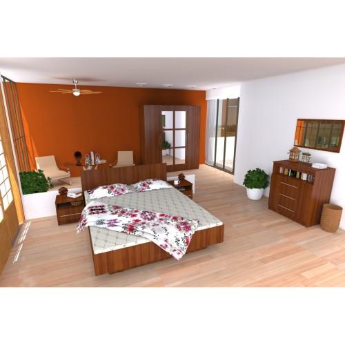 Dormitor Napoli cu pat 140x200 cm