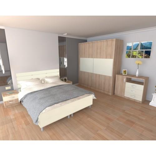 Dormitor Milano cu Pat Sonoma 140x200 cm
