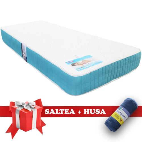 Set Saltea Memory Foam Saltex Husa Elastic