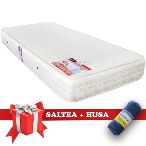 Set Saltea SuperOrtopedica Saltex 900x1900 + Husa cu elastic imagine spectral.ro