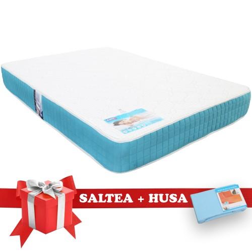 Set Saltea Latex Saltex 1400x1900 + Husa cu elastic poza spectral.ro