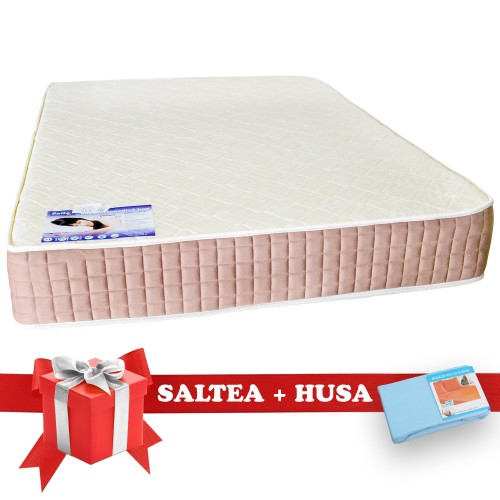 Set Saltea SuperOrtopedica Lux Saltex 1400x2000 + Husa cu elastic poza spectral.ro