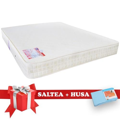 Set Saltea SuperOrtopedica Saltex 1600x1900 + Husa cu elastic poza spectral.ro
