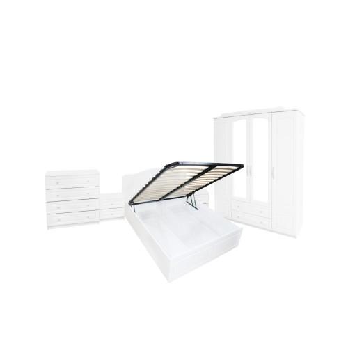 Dormitor Sara cu pat 140x200 cm cu somiera rabatabila imagine spectral.ro