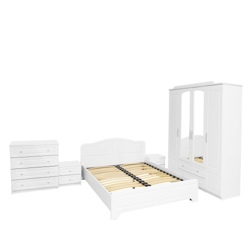 Dormitor Sara cu pat 180x200 cm cu somiera fixa imagine spectral.ro