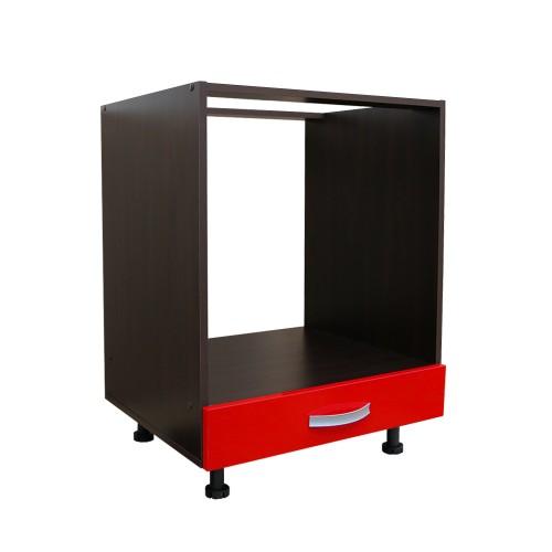 Corp Inferior Cuptor Incorporabil Sertar Rosu Mobilier Ilustratie