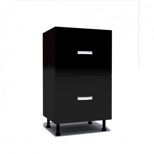 Corp inferior 50 cu 2 sertare metalice pentru greutate Zebra negru imagine spectral.ro