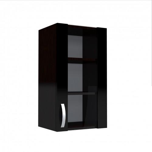 Corp superior 40 vitrina cu 1 usa Zebra negru poza spectral.ro