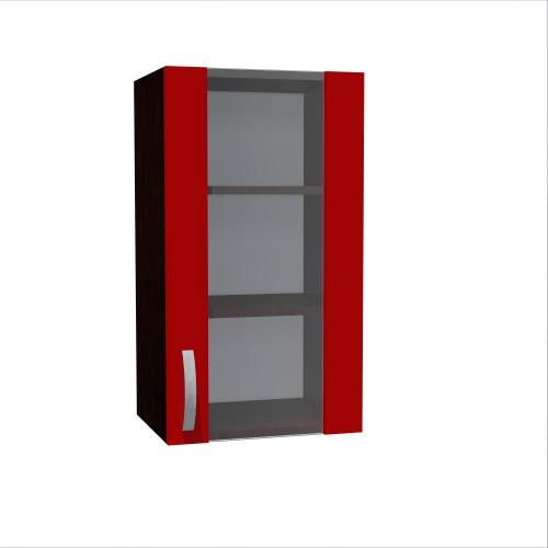 Corp superior 40 vitrina cu 1 usa Zebra rosu imagine spectral.ro