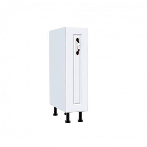 Corp inferior 20 cu 1 usa si cos Jolly Zebra MDF alb drept poza spectral.ro