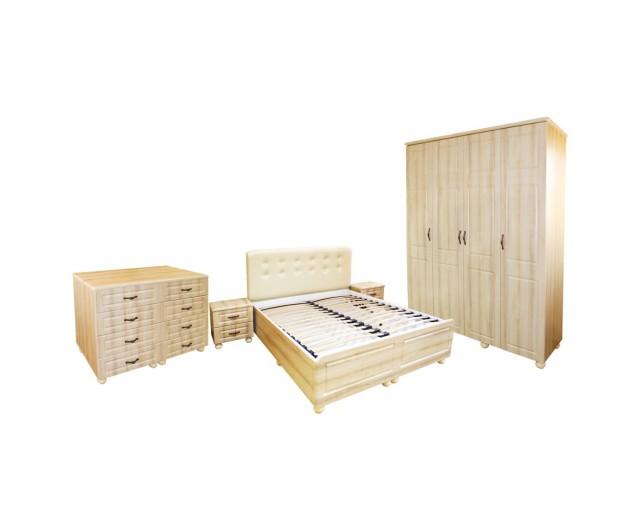 Dormitor Dynasty Sonoma cu pat 140x200 cm