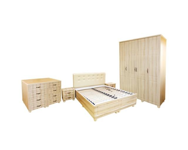 Dormitor Dynasty Sonoma cu pat 160x200 cm