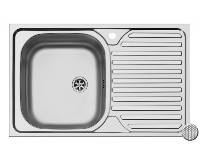 Chiuveta Core 1B1D stanga anticalcar