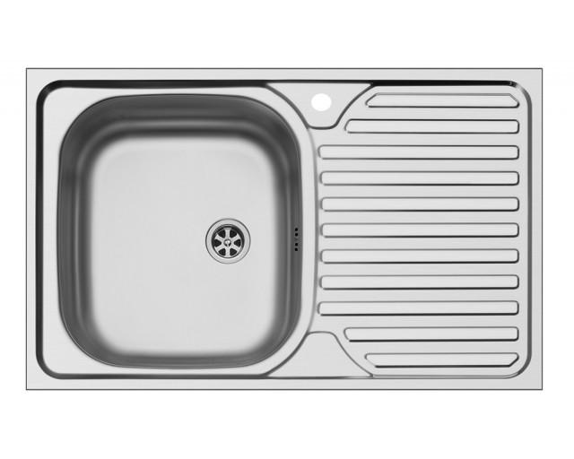 Chiuveta Core 1B1D stanga lucioasa
