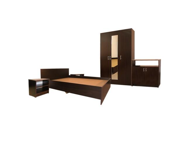 Dormitor Soft Wenge cu pat 120x200 cm
