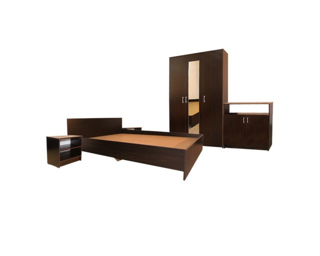 Dormitor Soft Wenge cu pat 160x200 cm