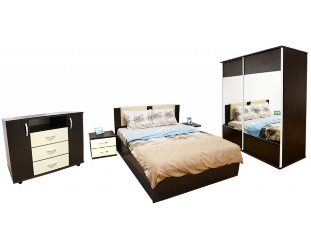 Dormitor Laguna cu pat 140x200 cu lada