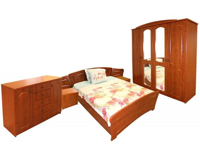 Dormitor Roma cu pat 140x200 cm